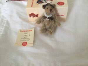 Gorgeous Miniature HERMANN Teddy Bear Boxed Jointed Hetty
