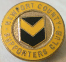 Newport County FC Vintage Supporters Club badge Maker Simpson London 20 mm Dia