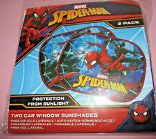 X005-11 SPIDERMAN Coppia Tendine ParaSole Universale Auto Protezione Bambini