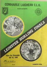 1983 GAA OFFALY v KILKENNY Hurling Leinster Final Programme