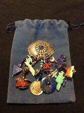Lazuli Pin Handmade Vintage Southwestern Ss Concho Lapis