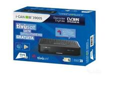 I-CAN 3900S DECODER  TIVU' SAT HD con tessera tivusat  HD Gold compresa new.-
