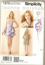 Simplicity Pattern 1876 Leanne Marshall Petal Tiered or Halter Dress Sz 4-12