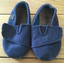 Baby Boys Blue Next Canvas Shoes Size UK 4