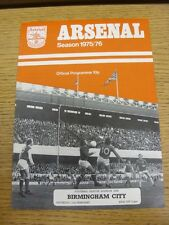 21/02/1976 Arsenal v Birmingham City  (Excellent Condition)