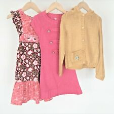 Girls Hippy Clothes Bundle Aged 4-5 Years H&M Cord Dress Boho Knitted Mustard