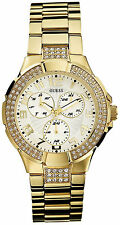 Guess G13537L Brand New Women's Gold Prism White Multifunction Dial Steel Watch
