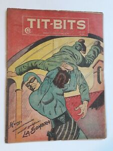 THE PHANTOM ON COVER! - TIT-BITS #2251 (1952) - COMIC IN SPANISH - ARGENTINA