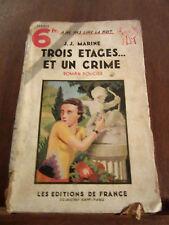 J.J. Marine: trois étages...et un crime (mauvais état) / Editions de France