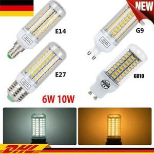 E27 E14 G9 GU10 SMD LED Glühbirne Birne 6W-15W Mais Licht Leuchtmittel Lampe