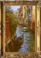 "Hand painted Oil painting original Art Landscape Venice on canvas 24""x36"""