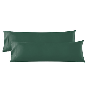 Body Pillowcase - 2 Microfiber Pillow Case -Body Pillow Size 20x54, Hunter Green