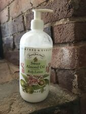 Crabtree & Evelyn Sweet Almond Oil Body Lotion 16.9 fl oz 80% Full Large Pump