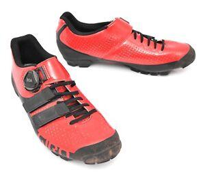 Giro Sica Techlace Mountain Bike Shoes EU 41 US Women's 9 Red 2 Bolt Carbon BOA