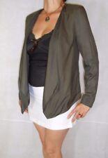 Women Khaki Elegant Jacket Blazer Open Front Fluid H&M Size 10