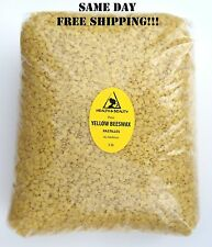 YELLOW BEESWAX BEES WAX  by H&B Oils Center ORGANIC PASTILLES BEARDS PURE 5 LB