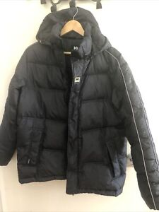 Helly Hansen Mens Black Puffa Jacket Size Euro 95 Suits L