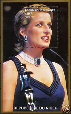 LADY DIANA, PRINCESS OF WALES IN PURPLE DRESS WITH NICE NECKLACE