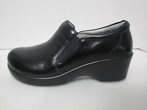 Alegria Eryn ERY-660 Comfort Wedge Shoes Sz 38 (8-8.5) Black Leather NEW $135