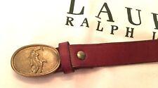 "POLO RALPH LAUREN Vintage Belt # 40029 Brass LOGO Buckel 32""/60"
