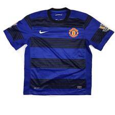 Nike Manchester United 2010/2011 Jersey Small #15 Vidic Blue Black