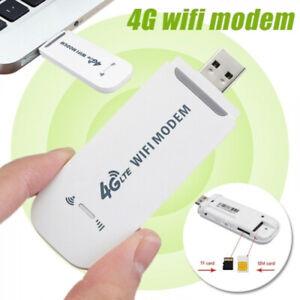 Unlocked 4G LTE WIFI Wireless USB Dongle Stick Mobile Broadband SIM Card Modem