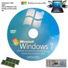 Windows 7 Professional 32 Bit SP1 - 1 COA License Key - Format HDD CD DVD PC
