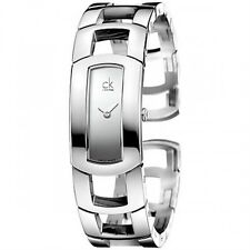 CK Donna Calvin Klein Orologio K3Y2M118 Orologio Watch Dress Grigio Acciaio New