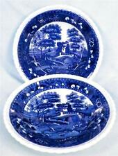 2 Copeland Spode Tower Fruit Dessert Bowls Blue Gadroon Older Mark Half Flowers