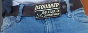 DSQUARED2 mens belt brown leather 100cm excellent condition.