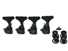 Black 4 Lefty Sealed Bass Tuners Tuning Keys Pegs 4 String Bass Machine Heads