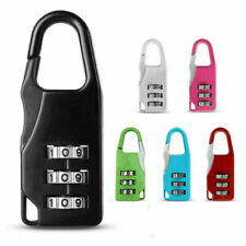 Travel Luggage Lock 3 Digit Combination Resettable Metal Mini Password Lock