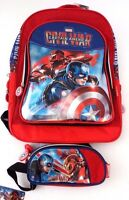 Marvel Comics Civil War Captain America Iron Man Backpack & Pencil Case NWT