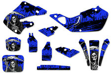 Honda CR125 98-99 CR250 97-99 Dirt Bike Graphic Kit Decal Sticker Wrap REAP BLUE