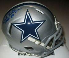 Bob Lilly #74 HOF '80 Signed Dallas Cowboys Auto Autographed mini helmet TriStar