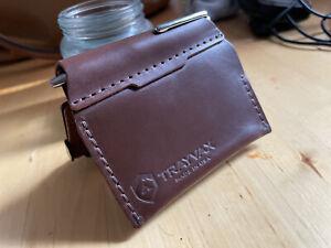 Trayvax Summit Leather Notebook Minimalist Wallet
