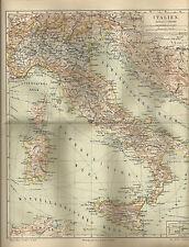 1887 Italien Historische Landkarte Karte Antique Map
