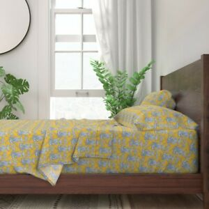 Toile Chinoiserie Asian Retreat 100% Cotton Sateen Sheet Set by Roostery