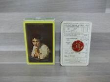 Oude boek speelkaarten - met tekeningen - nieuw - compleet ! cartes picturales