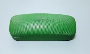 Lacoste Sunglasses/Eyeglasses Green Clamshell Faux Leather SUNGLASSES Case