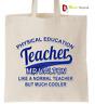 PERSONALISED Thank You PE Teacher School Gift Cotton Tote Bag- P.E TEACHER