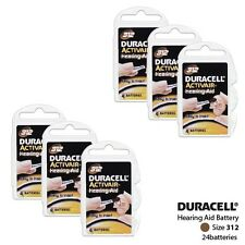 Duracell Size 312 Activair Hearing Aid Batteries (4 packs) (24 Batteries Total)