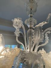 Chandelier glass Murano - 1005/5 Crystal Gold - Mount gold 24K