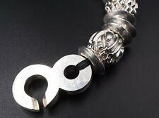 "Luxe Patricia von Muslin Sterling Silver Bead Chain Bracelet 6.5"" 225g BS1819"
