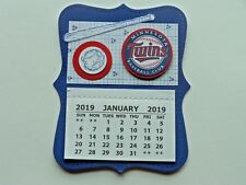 MINNESOTA TWINS BASEBALL  2019 MINI MAGNETIC CALENDAR MONTHLY TEAR OFF PAGES