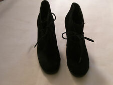 WOMENS NINE WEST BLACK SUEDE LEATHER WEDGE SHOES SIZE 5