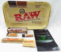 RAW Brand Set 7 Piece Set King Size 110mm Papers Tips Roller Matches Tray -33-