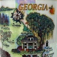 Vintage Georgia Atlanta Athens Columbus Jekyll Albany Coffee Tea Cup Mug Pearl