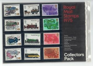 GB 1975 Royal Mail stamps Collectors pack. Year. VGC. Free postage