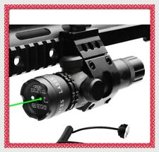 Hunting Tactical Green Laser Sight Remote Switch and Offest Mount Suit 20mm Rail